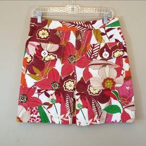 Etcetera Anthro tropuc cotton mini skirt sz 8